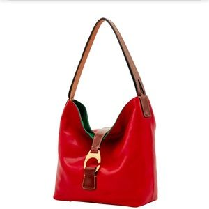 Dooney & Bourke Bags - Dooney & Bourke Red Derby Florentine Hobo Bag NWT